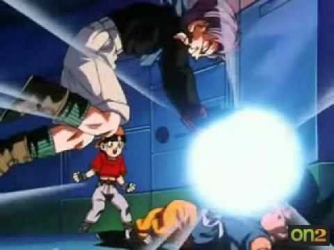 baby vs trunks and goku and pan