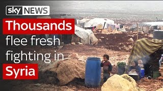 Thousands flee as Syria violence intensifies - SKYNEWS