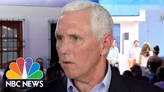 Mike Pence: U.S. Won't See Venezuela 'Collapse Into Dictatorship' | NBC News - NBCNEWS