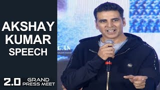 Actor Akshay Kumar Speech At 2.0 Grand Press Meet | Rajinikanth | Shankar | TFPC - TFPC