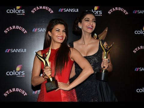 Sonam Kapoor and Jacqueline Fernandez at StarDust Awards | New Bollywood Movies News 2014