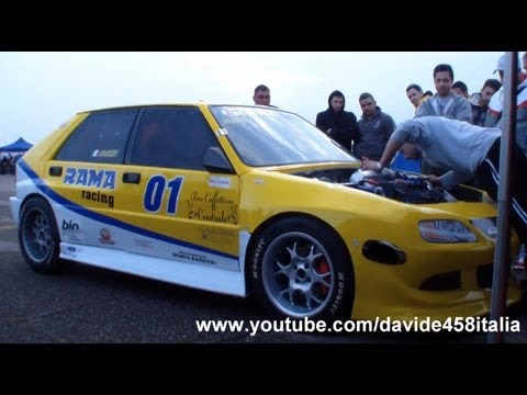 +1000 HP Lancia Delta RR1 by Rama Racing: LAUNCH + start up + drag race
