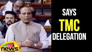 Rajnath Singh Says TMC delegation Argued with security officers in Silchar | Lok Sabha 2018 - MANGONEWS