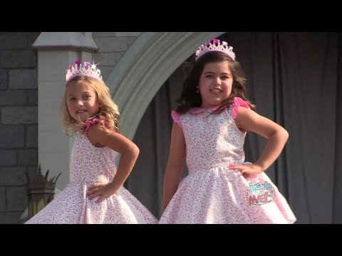 Sophia Grace and Rosie perform rap at Cinderella Castle in Walt Disney World