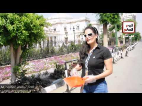 فيديو سما المصري تكسر قلل امام مجلس الشعب + صور