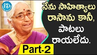 Renowned Writer Indraganti Janakibala Interview - Part #2 || Akshara Yatra With Mrunalini - IDREAMMOVIES