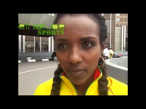 EthioTube interview with 10,000m gold medalist Tirunesh Dibaba of Team Ethiopia   August 13, 2013