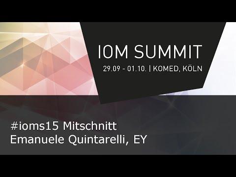 #IOMS15 Mitschnitt - Emanuele Quintarelli, EY