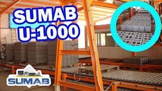 Стационарный вибропресс блок-машина sumab u-1000