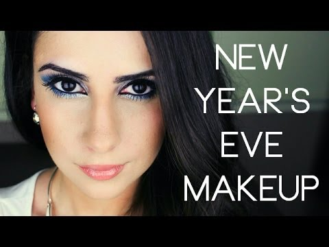 NYE Makeup | Frosty White & Electric Blue Cutcrease