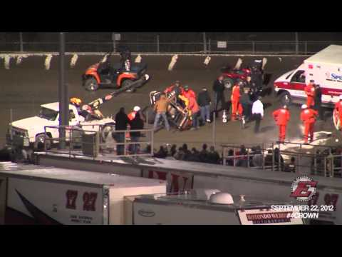Kyle Larson Four Crown Nationals USAC Sprint Car accident