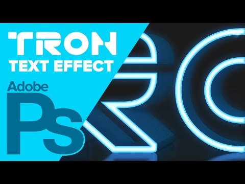 Photoshop CS6: TRON Legacy Text Effect