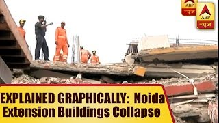 EXPLAINED GRAPHICALLY: Timeline of Noida Extension Buildings Collapse - ABPNEWSTV