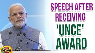 PM Modi Speech After Receiving 'United Nations Champions of the Earth' Award | Modi Latest News - MANGONEWS