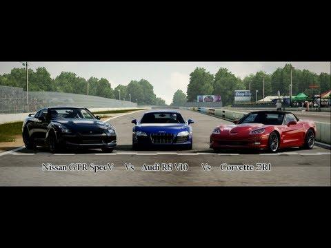 Forza Motorsport 4 Battle - Episode 7: Nissan GTR Vs Audi R8 V10 Vs Corvette ZR1
