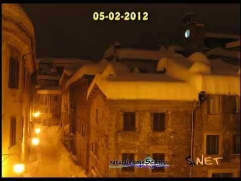 Nevicata storica del febbraio 2012 - vista del Capocroce