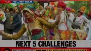 RaGa elevation: Visuals from outside Congress HQ ; supporters continue to celebrate & raise slogans - NEWSXLIVE