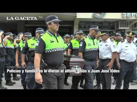 Policías y familiares le dieron el último adiós a Juan José Vides