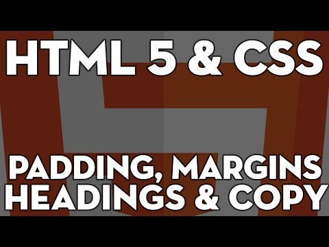HTML5 & CSS Web Design - 109 - Dummy Content, Margins, Padding and Heading styles