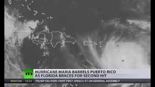 Blasting Through: Cat 5 Hurricane Maria strikes Puerto Rico as US braces for another hit - RUSSIATODAY