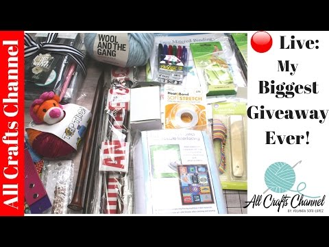 🔴Live:  GIVEAWAY IS NOW CLOSED!  My Biggest Giveaway Ever!   Today I Share Some Great Products