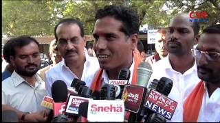 BJP Candidate Hussain Nayak Filed Nomination At Mahabubabad l CVR NEWS - CVRNEWSOFFICIAL