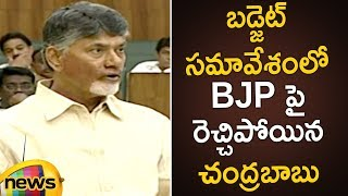 Chandrababu Naidu Fires On BJP In Assembly | AP Assembly Budget Session 2019 | Mango News - MANGONEWS