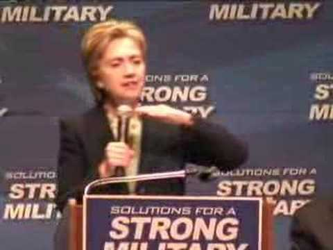 2012 Election – Hillary Clinton Discusses
