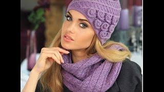 Женские вязанные шапки - фото 2017 / Women's knitted hats / Frauen-Strickm?tze - Foto