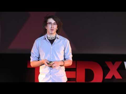 Karol Wójcicki w czasie TEDxWarsaw/