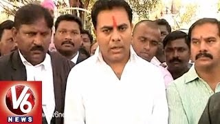TRS Leader KTR Attends Court in Warangal - V6NEWSTELUGU