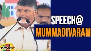AP CM Chandrababu live from Janmabhoomi Maa Vooru Program at Mummadivaram | Mango News - MANGONEWS