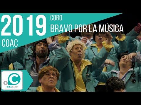 La agrupación Bravo por la música llega al COAC 2019 en la modalidad de Coros. En años anteriores (2018) concursaron en el Teatro Falla como Estamos encantados, consiguiendo una clasificación en el concurso de Preliminares.