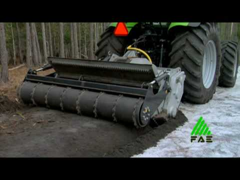 FAE Forestry Tiller and Soil Stabilizer attachment SSL
