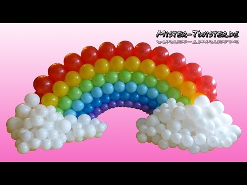 Balloon Rainbow, Decoration, Birthday, Ballon Regenbogen, Dekoration ...