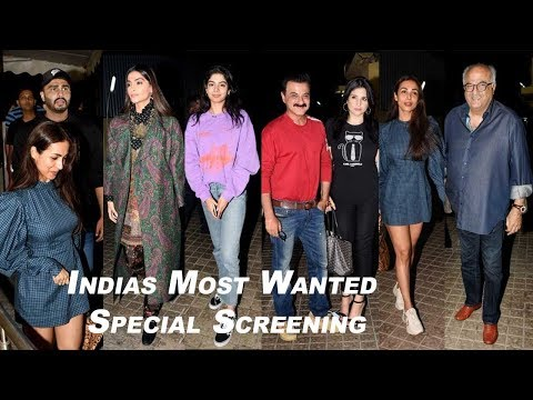 Arjun Kapoor & Girlfriend Malaika Arora @Indias Most Wanted Special Screening