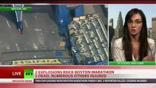 Boston Marathon explosion caught on tape