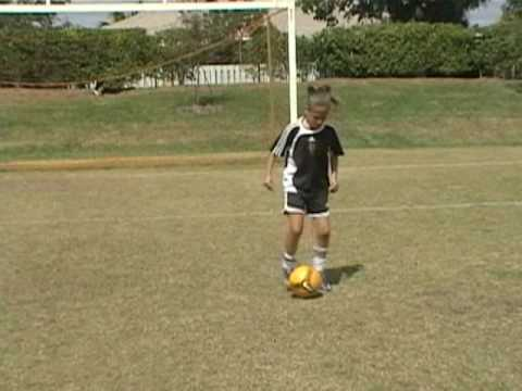 Chloe U8 soccer skills and technique