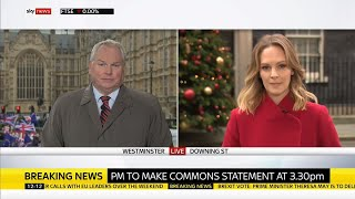 Meaningful vote on withdrawal agreement delayed - SKYNEWS