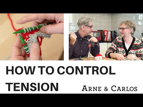 How to control the tension when you knit Continental (Scandinavian) style. ARNE & CARLOS