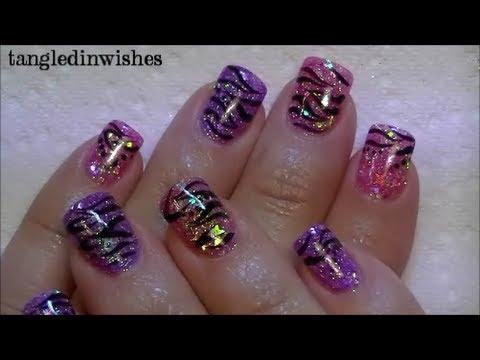 My Starry Zebra Acrylic Nails