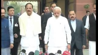 24, Nov 2014  - Indian PM Modi confident of fruitful results from winter session of parliament - ANIINDIAFILE