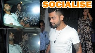Anushka Sharma and Virat Kohli socialise as a couple! - EXCLUSIVE - ZOOMDEKHO