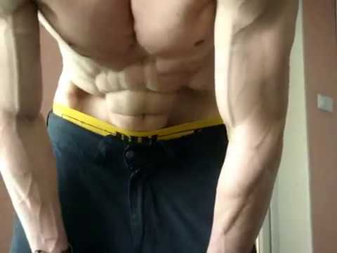 VACUUM stomach-abs SIX PACK posing