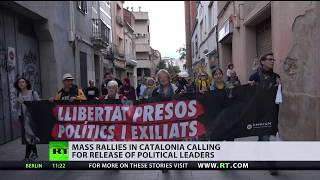 Mass rallies in Catalonia calling for release of political leaders - RUSSIATODAY