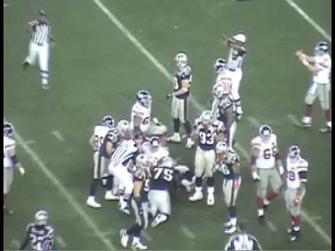 Super Bowl XLII, NY Giants vs New England, Eli Manning Pass To Burress