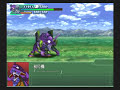 Eva 01 eats Buster Gundam (from super robot wars alpha 3)