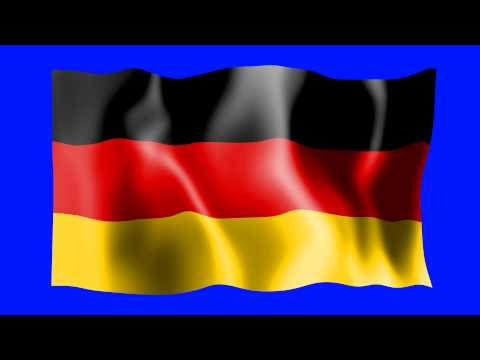 Germany Waving Flag - Green Screen Animation