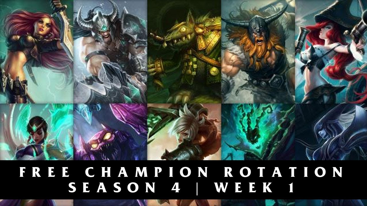 Free League of Legends Champions Season 4 | Week 1