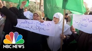 Female Hamas Supporters Protest Vice President Mike Pence In Israel | NBC News - NBCNEWS